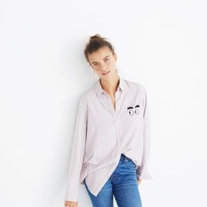 Madewell Embroidered Bristol Button-down Shirt